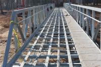 8 X 80 bridge with concrete decking for golf cart traffic