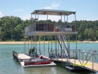 Custom built dock on Strom Thurmond, Clarks Hill