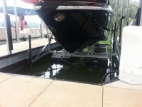 6000lb Armor Lift with Cobalt boat