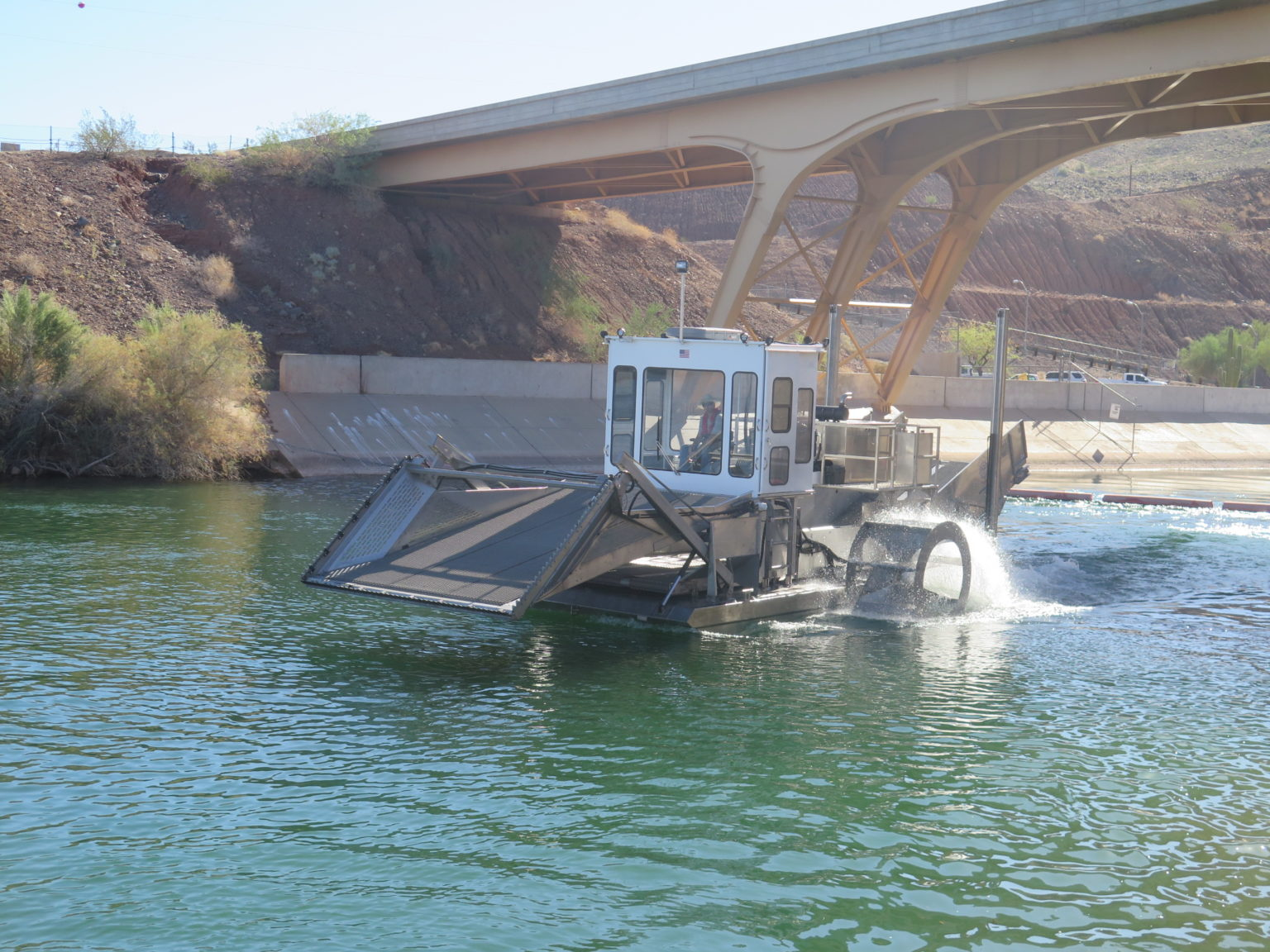 Alphaboats FX-11 Waterweed Harvester Saltwater Stainless Steel Model with Optional Cab