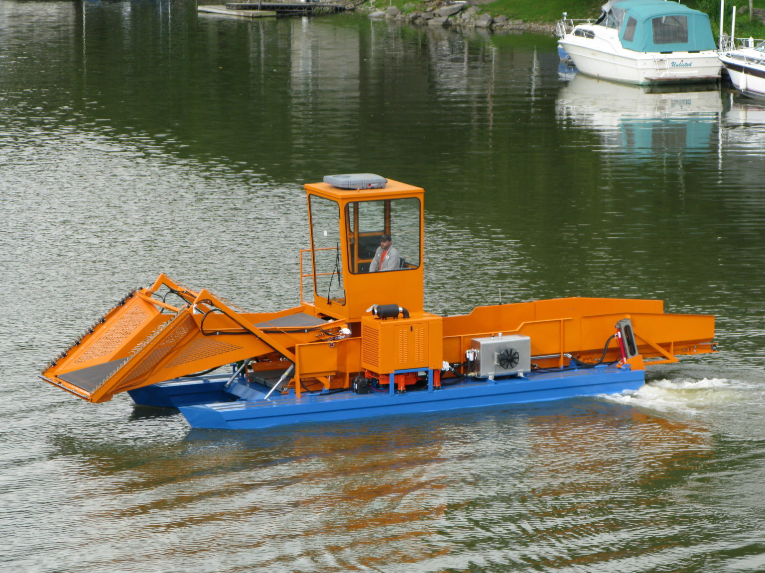 Alphaboats FX7 Waterweed Harvester with Optional Operators Cab