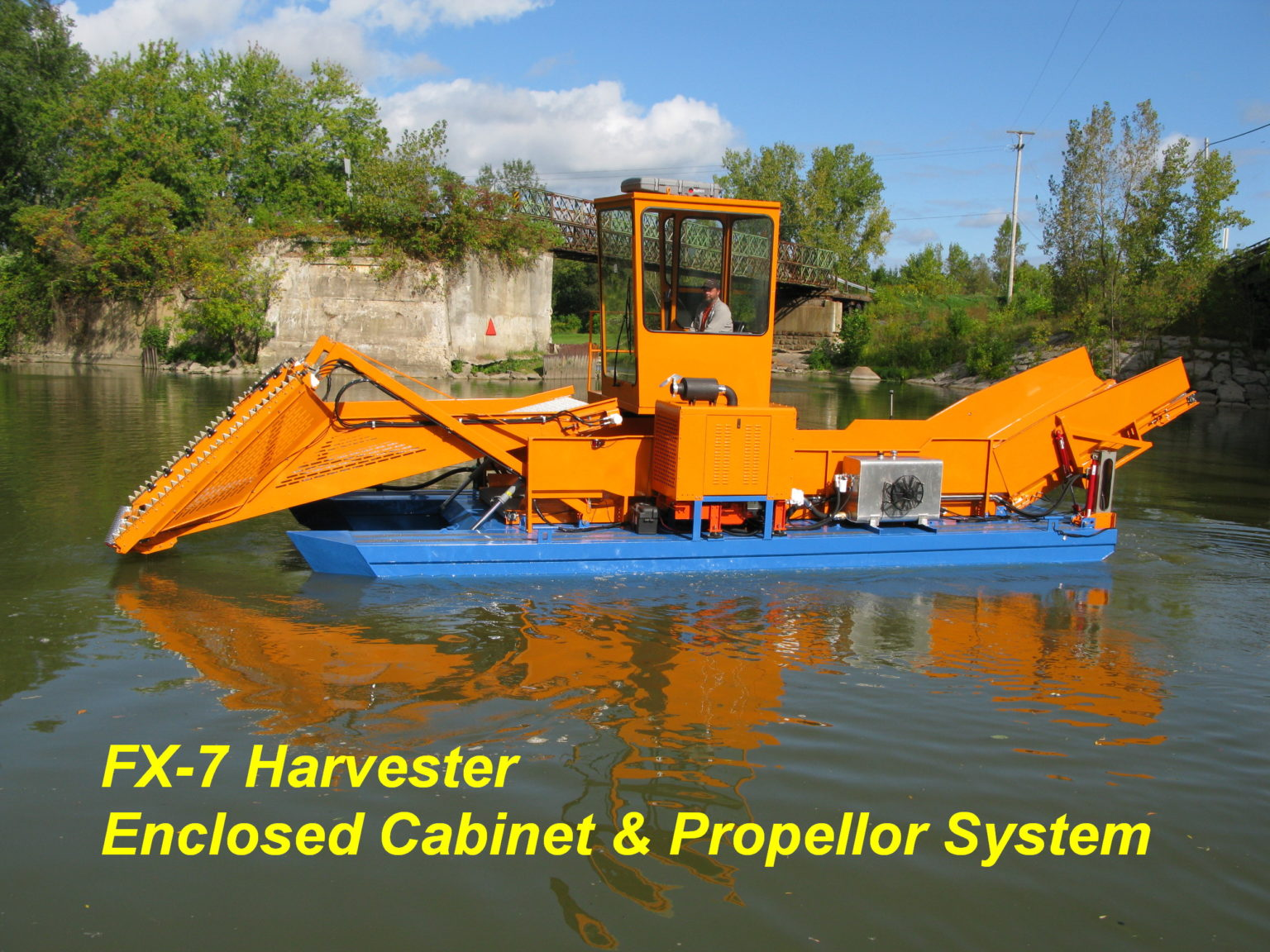 Alphaboats FX7 Waterweed Harvester with Operators Cab and Propellor System