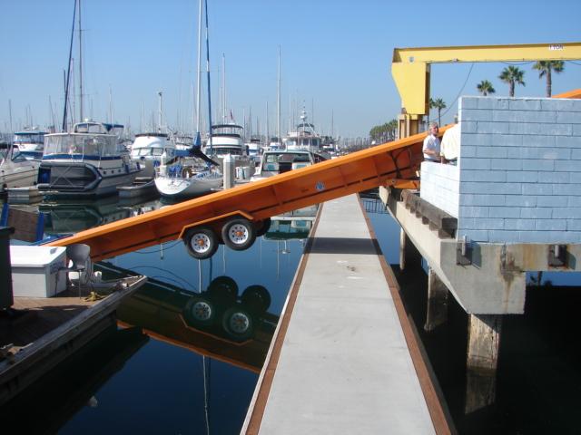Alphaboats PC6036 Pier Conveyor working dockside