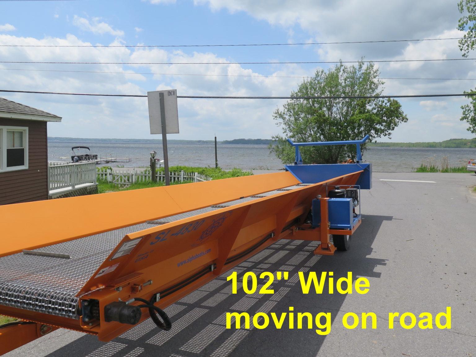 Alphaboats Shore Conveyor ready to travel