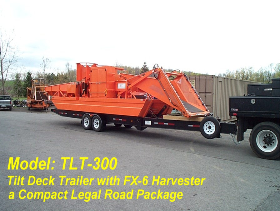Alphaboats TLT300 Trailer with FX6 Aquatic Weed Harvester