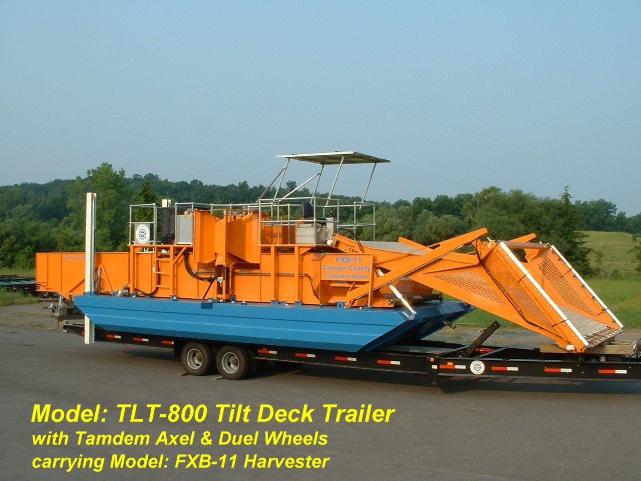 Alphaboats TLT-800 Transport Trailer with FX11 Aquatic Weed Harvester
