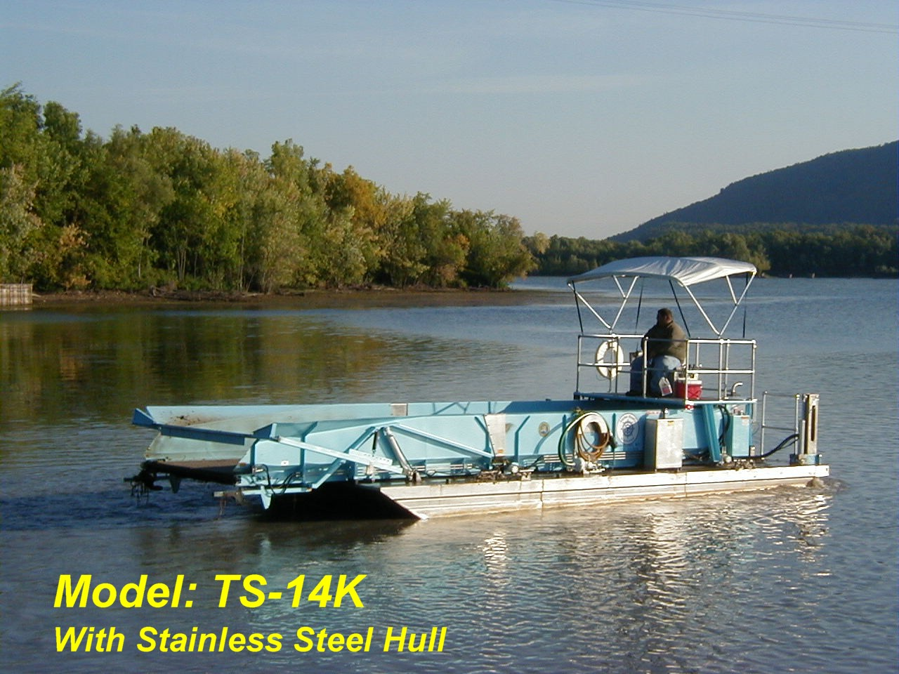 Alphaboats TS14 Transport Barge with optional stainless steel hull