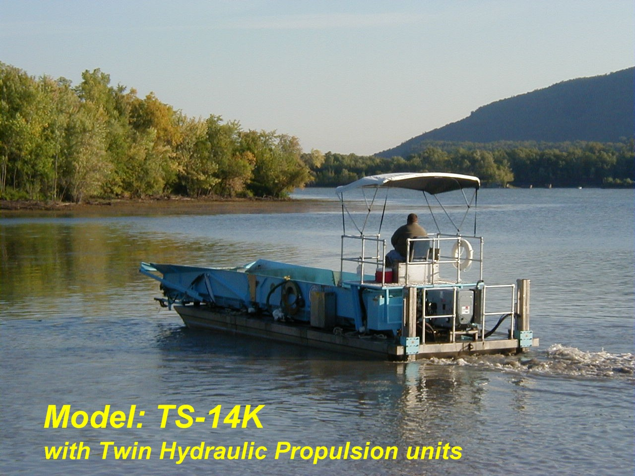 Alphaboats TS14 Transport Barge with hydraulic propulsion