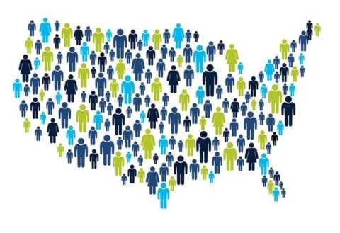 Map Of America Made Of People