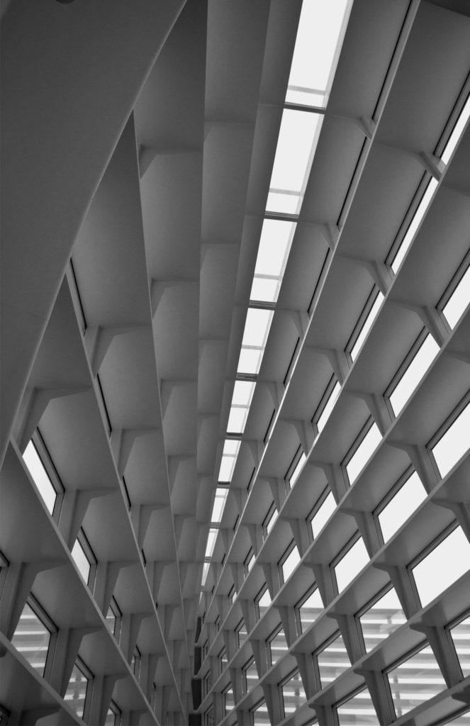 museum-interior-bw-angles-sideways
