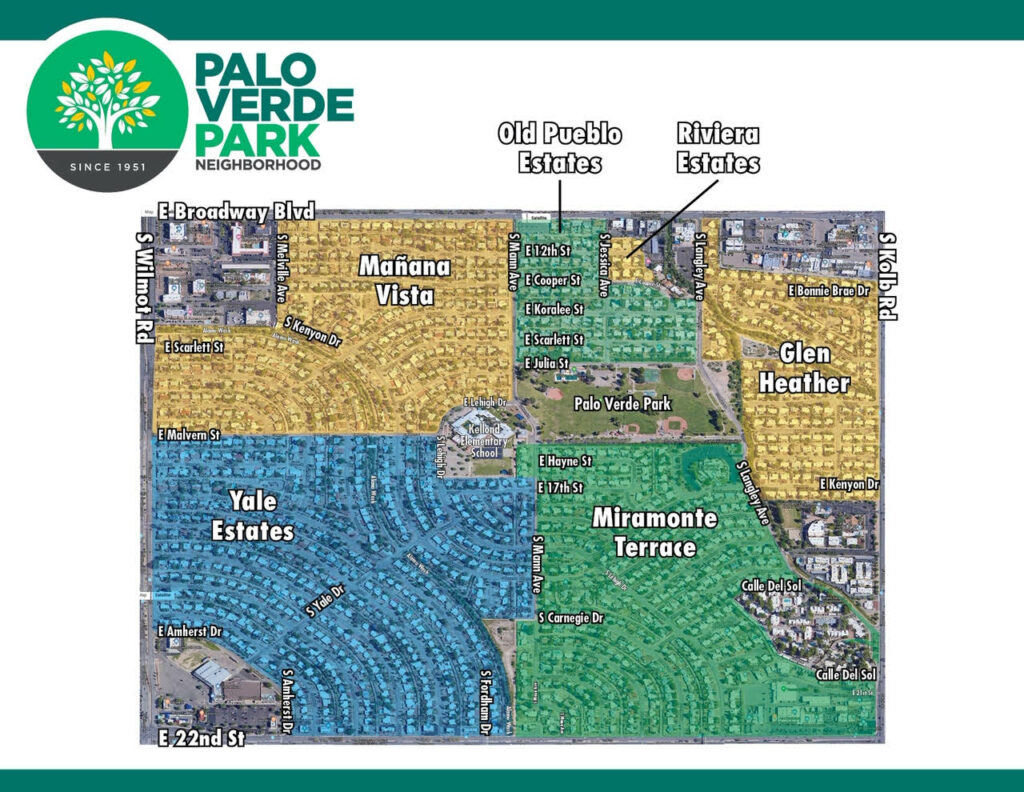 map of palo verde park neighborhood
