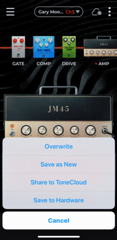 You can change any parameter in a tone and save as new