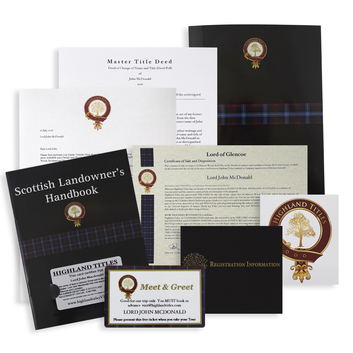 Become a Laird, Lord or Lady of Glencoe Package 1