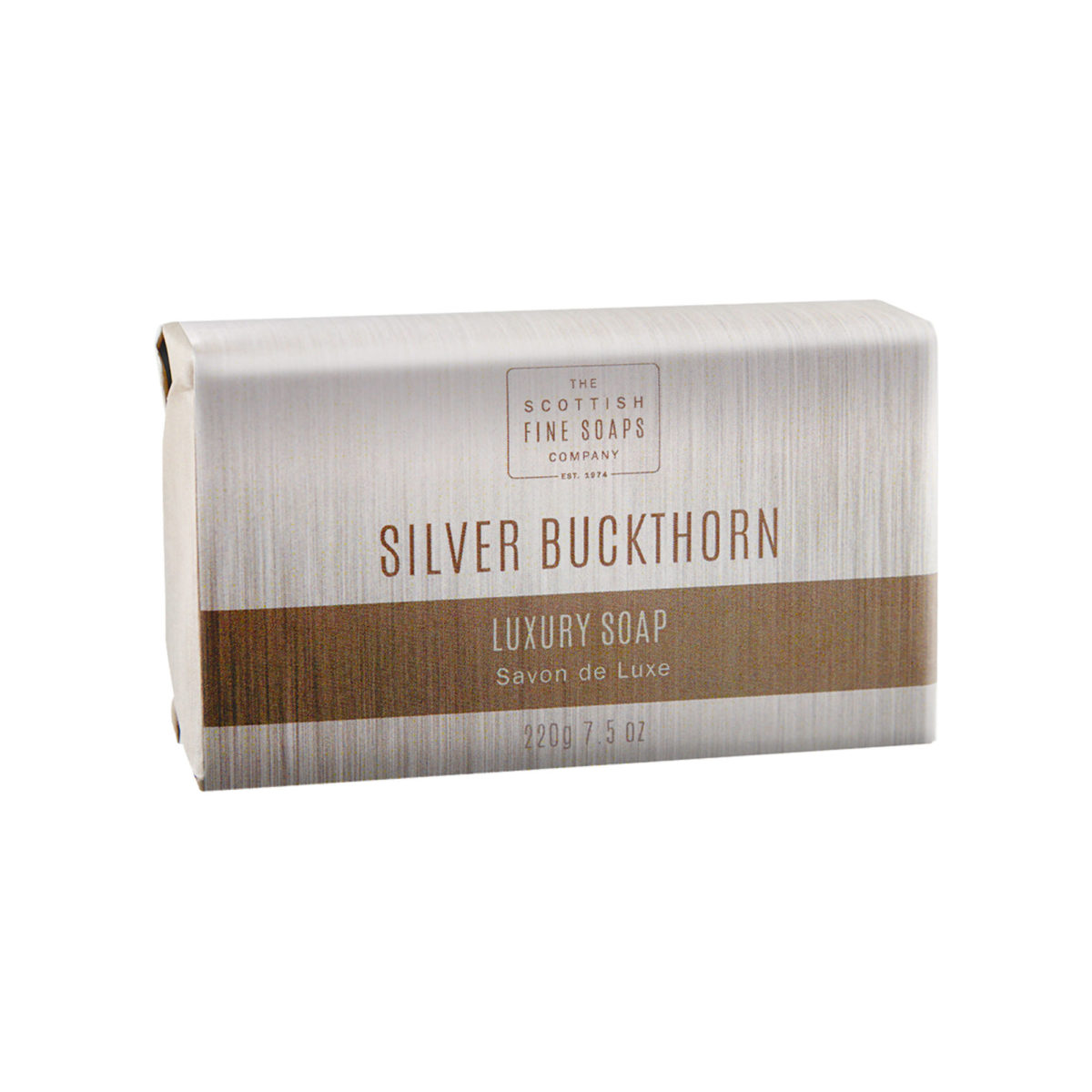 Silver Buckthorn Luxury Wrapped Soap Bar