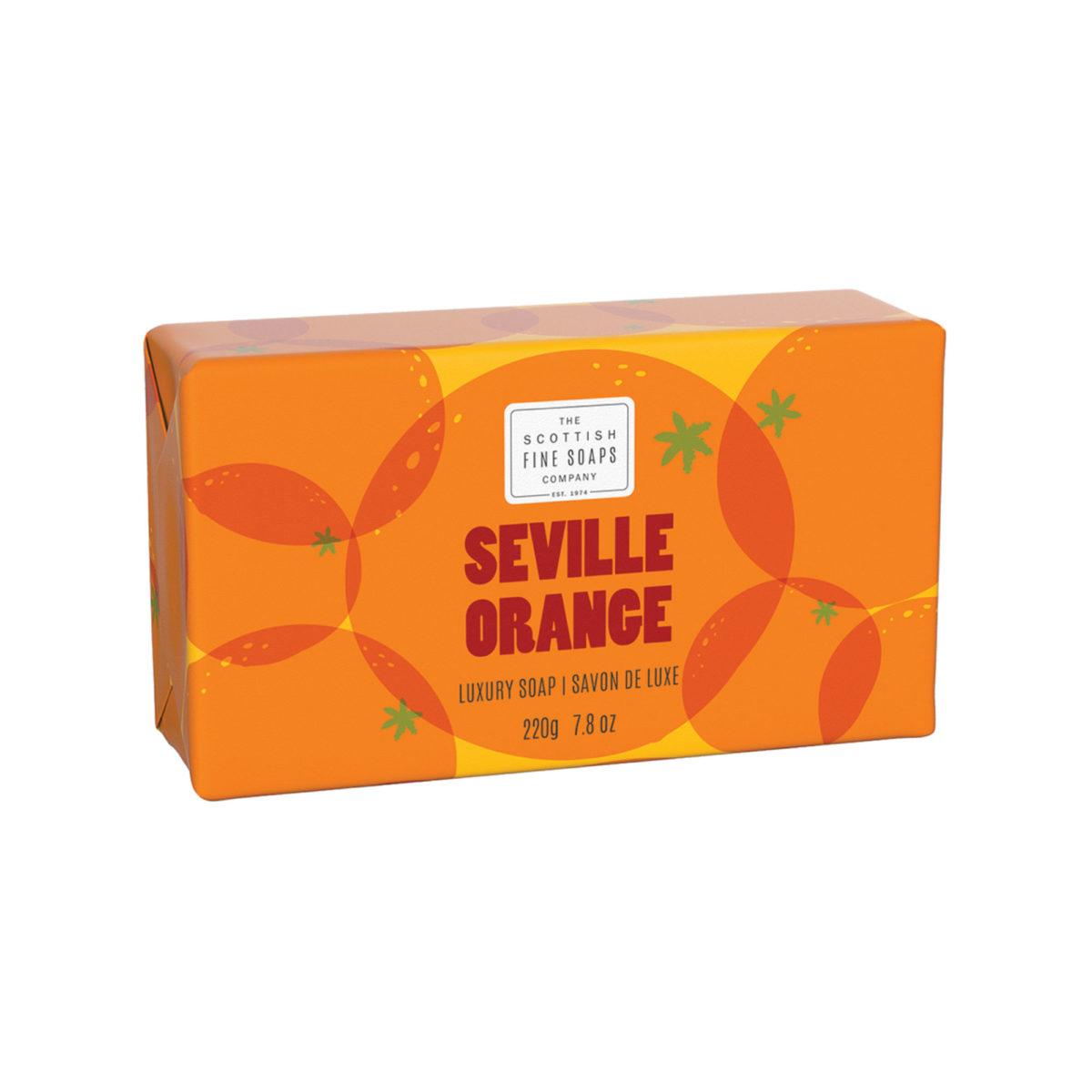 Seville Orange Luxury Wrapped Soap – Citrus Collection