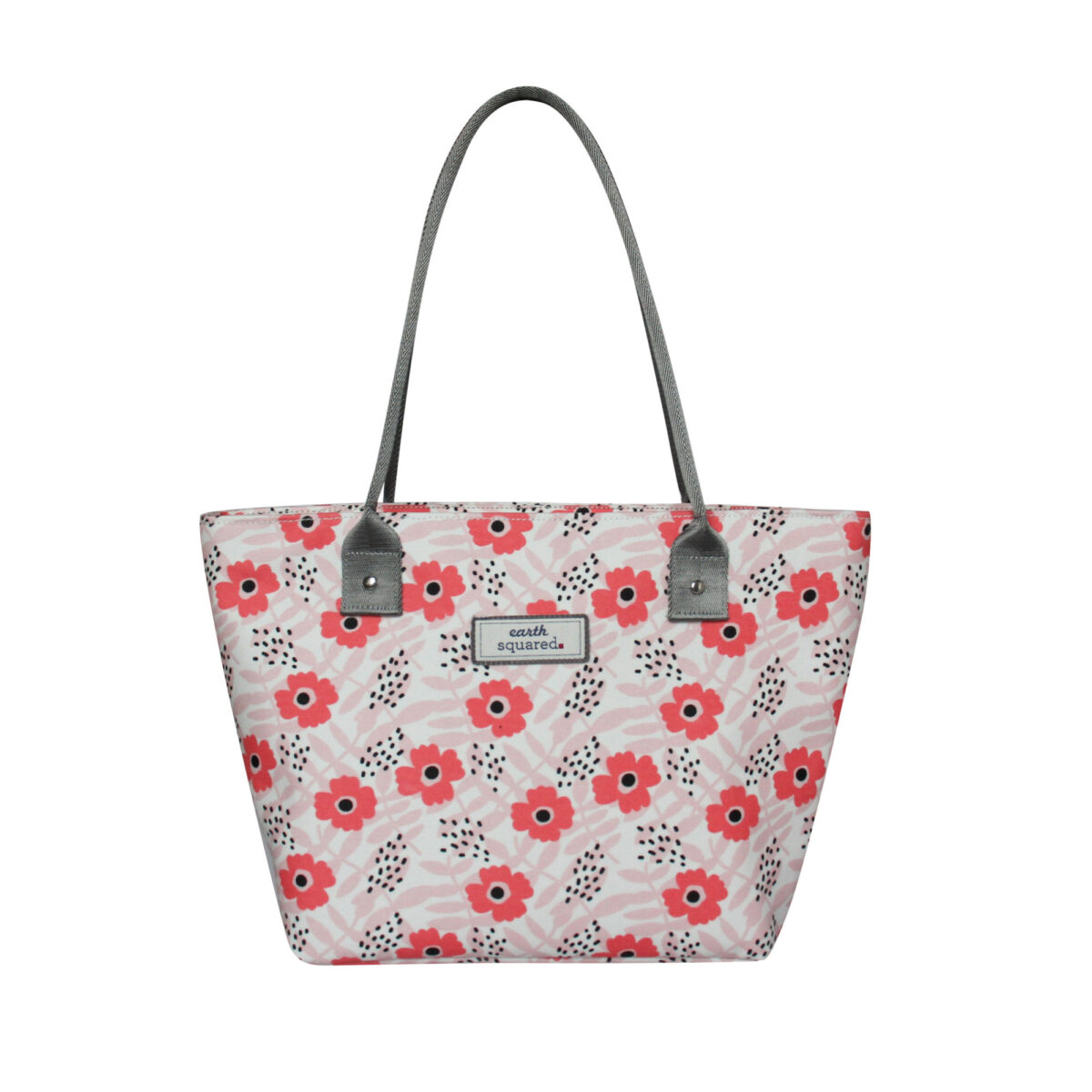 Pink Flower Oil Cloth Tote Bag