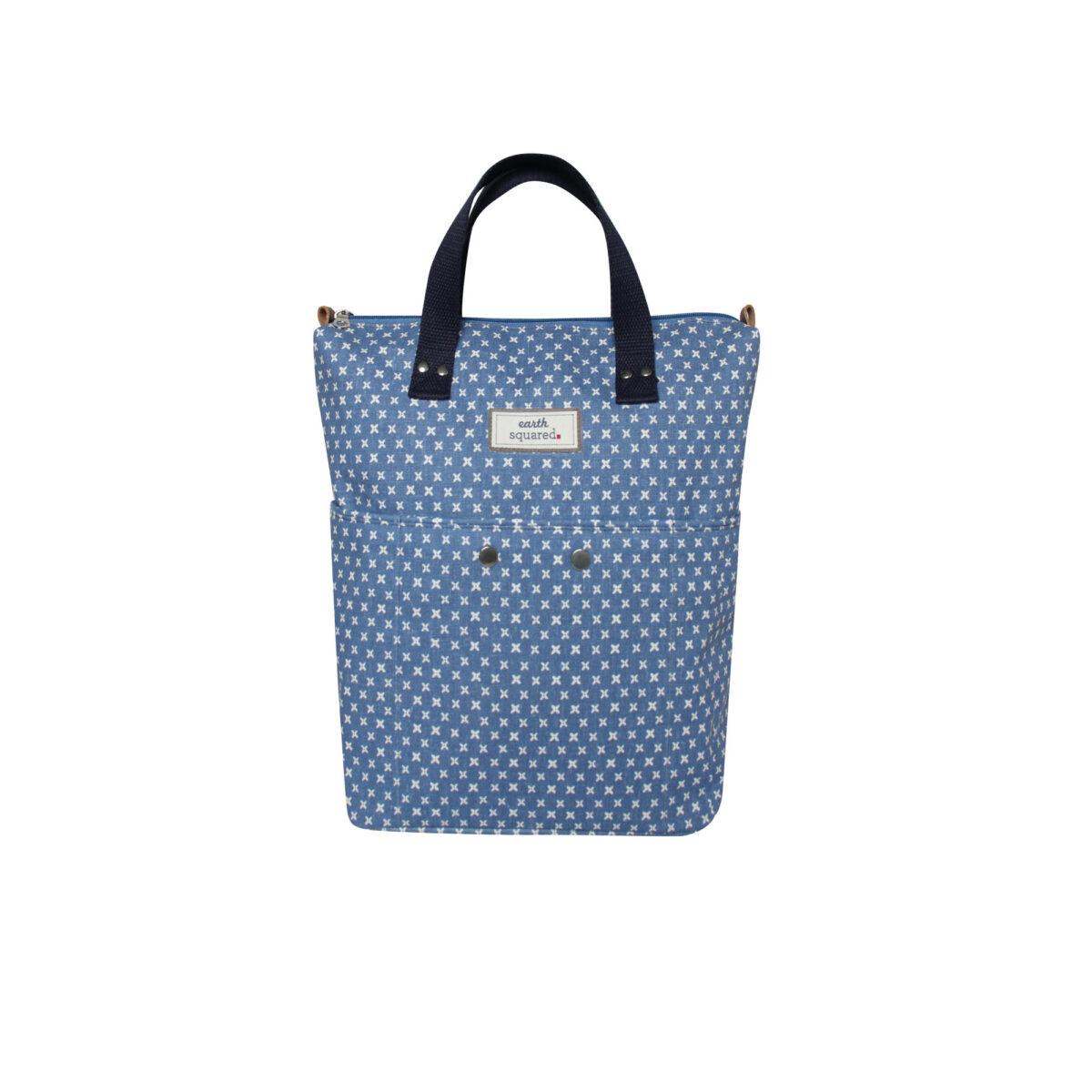 Blue/White Spring Linen Backpack