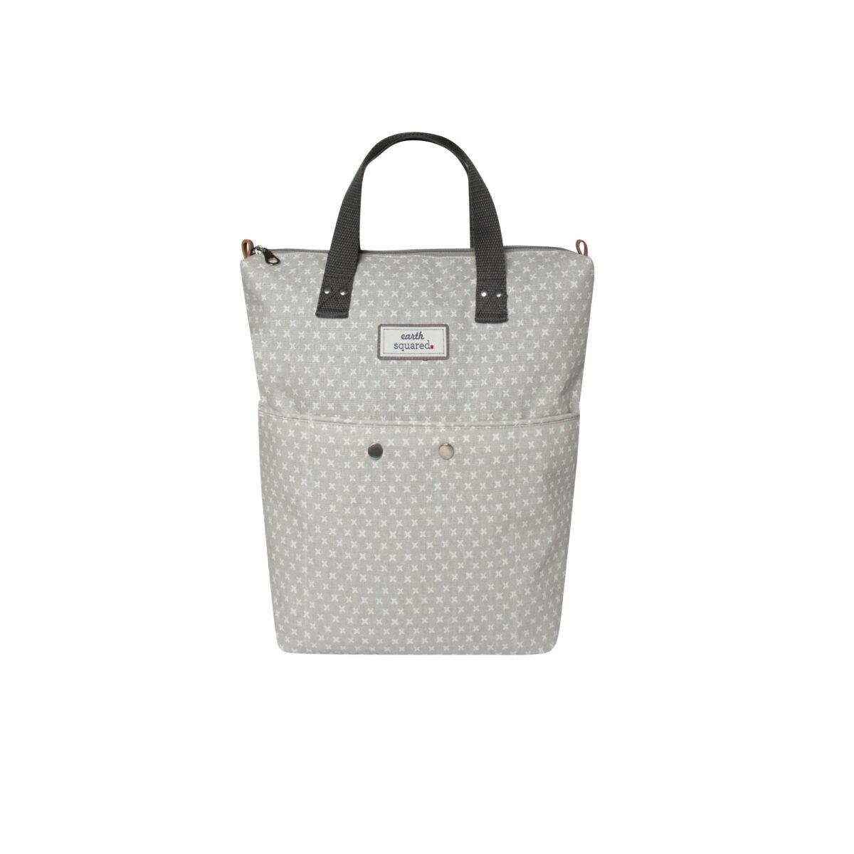Grey/White Spring Linen Backpack