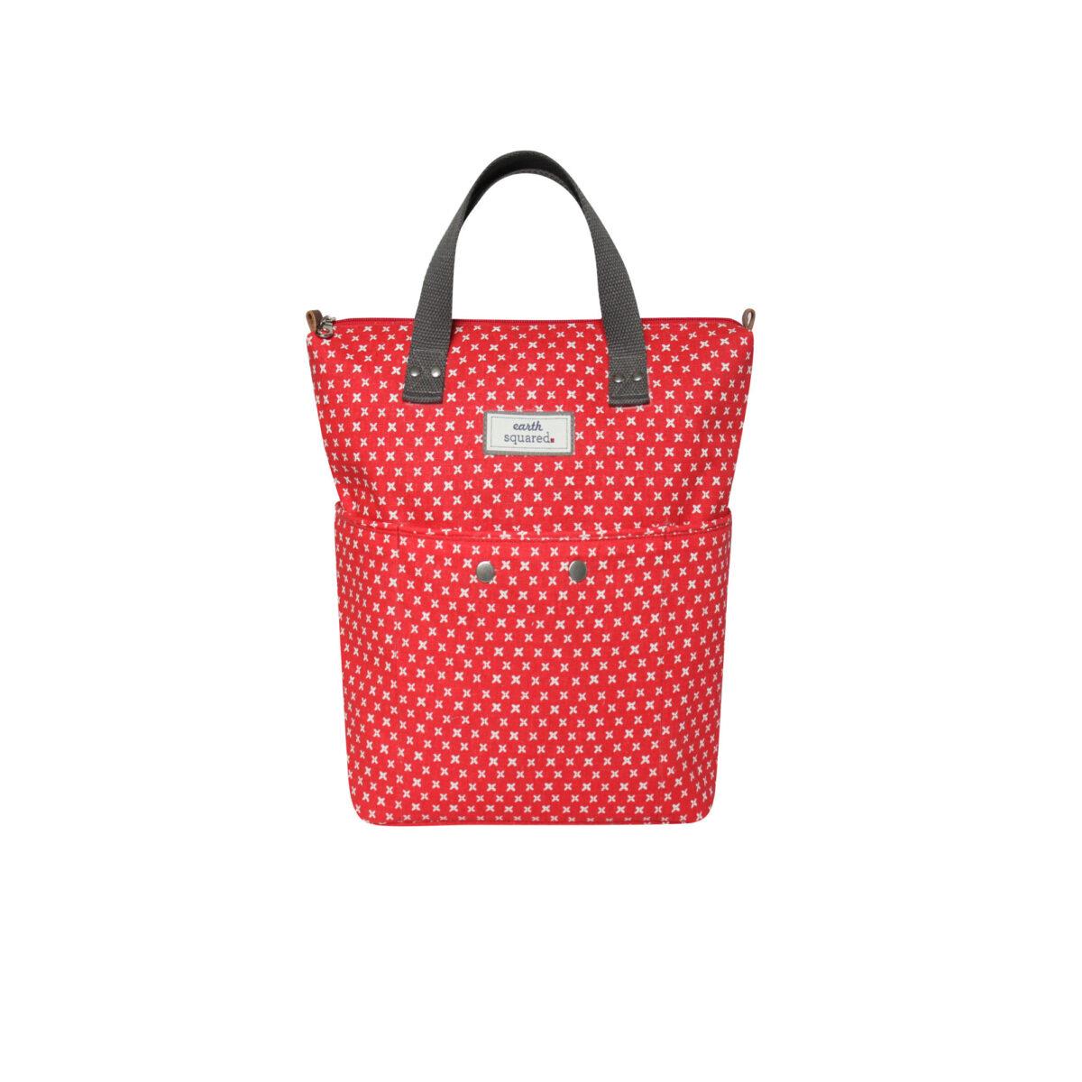 Red/White Spring Linen Backpack