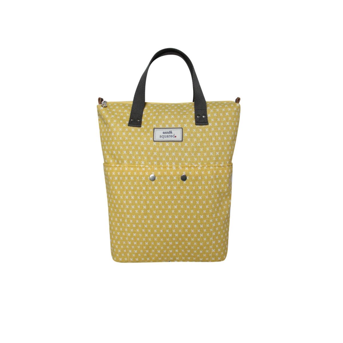 Yellow/White Spring Linen Backpack