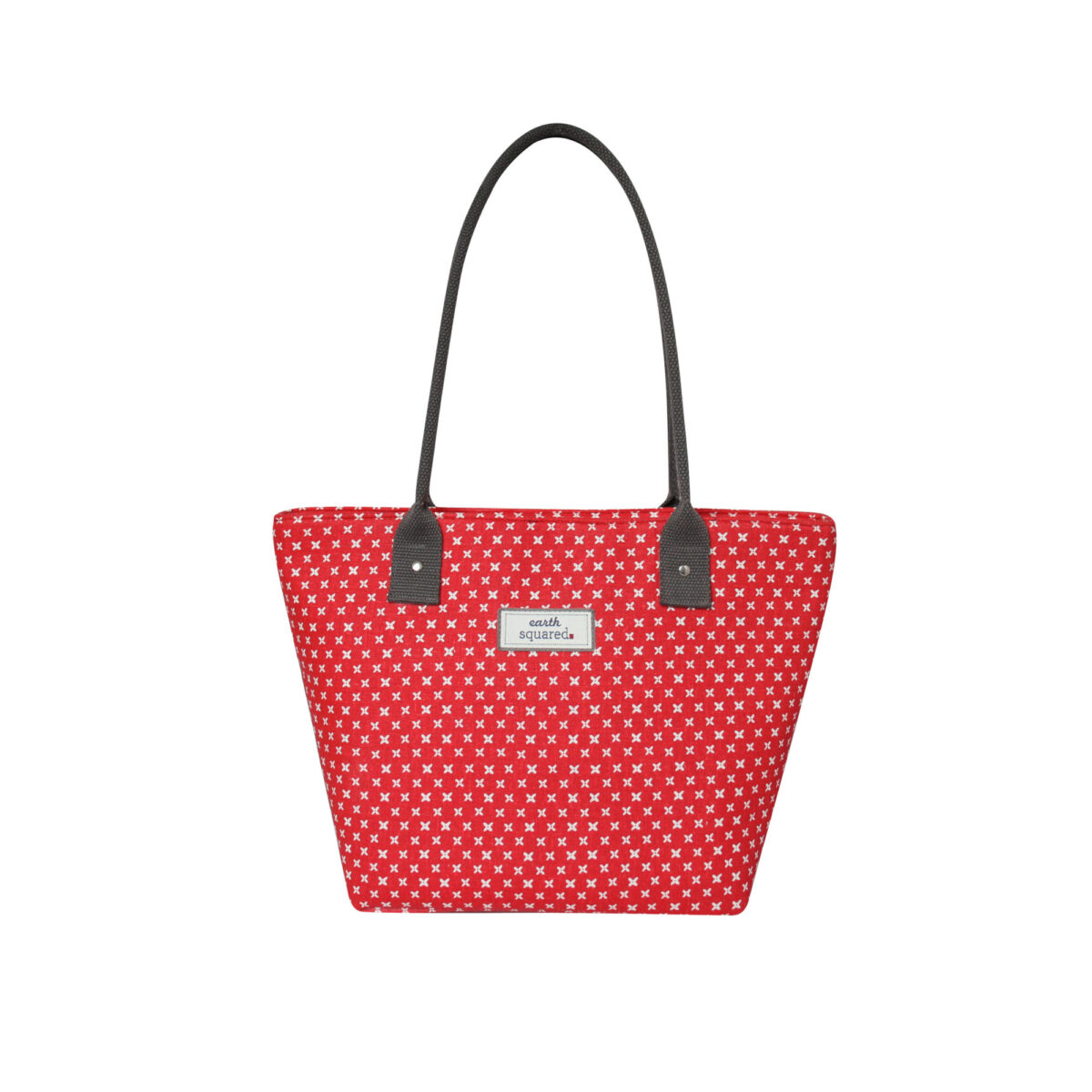 Red/White Spring Linen Tote Bag