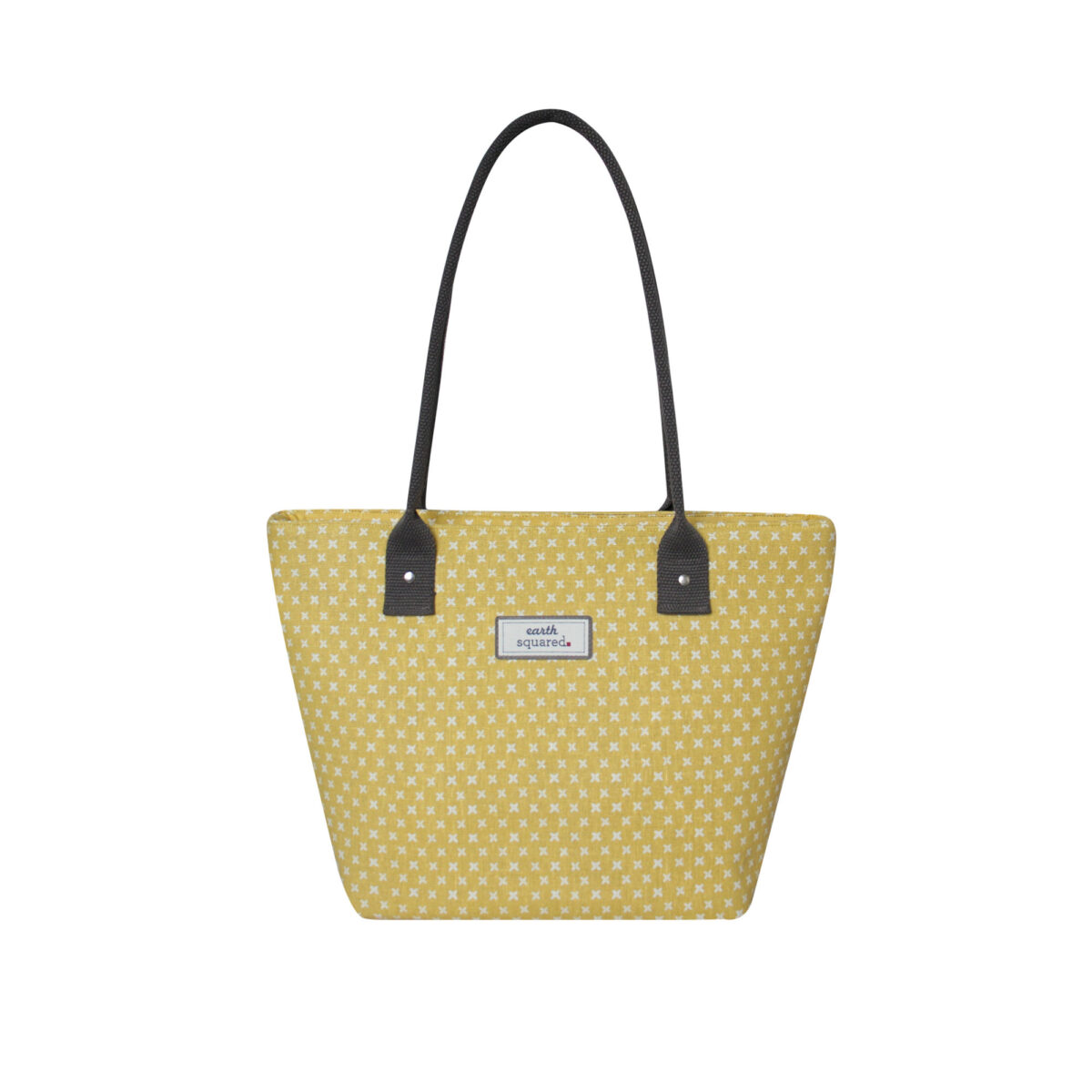 Yellow/White Spring Linen Tote Bag