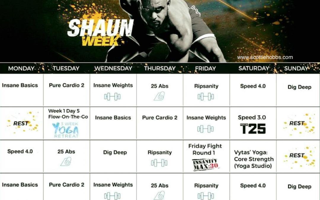 Shaun Week Hybrid Schedule