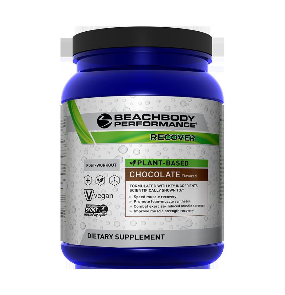 Plant based protein shake, plant based recover, vegan recover shake beachbody