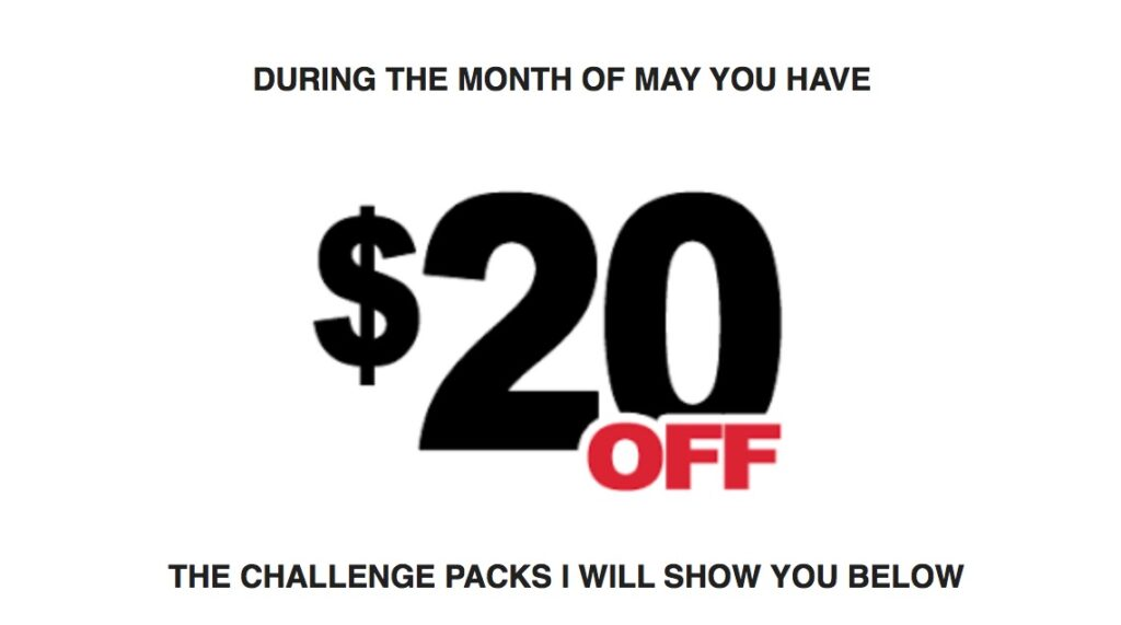 beachbody challenge packs, beachbody challenge pack sale, may challenge pack promotion
