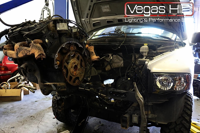 Engine Removed From a Truck