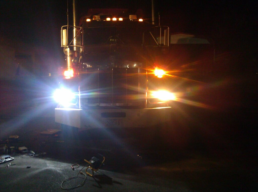 Performance Lights on Semi Truck