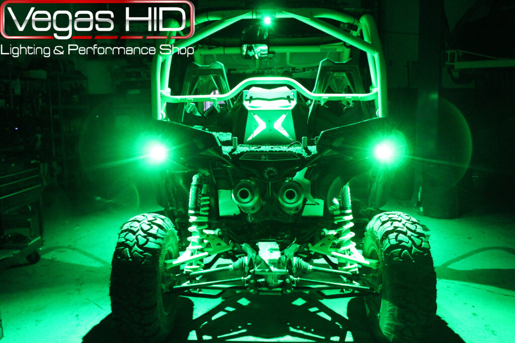 Green Dune Buggy Taillights and Underglow