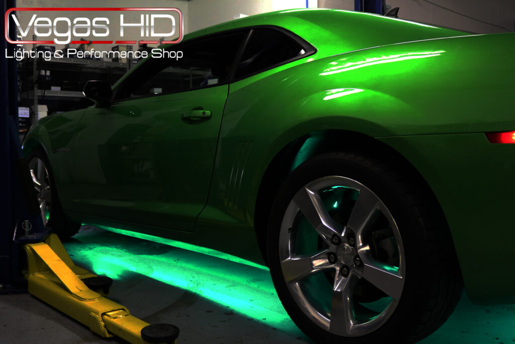 Green Underglow on Sports Car