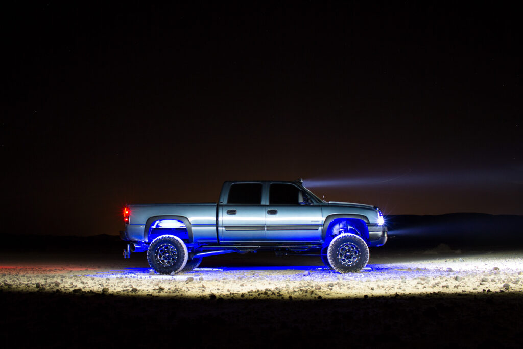 Lifted Truck With Underglow