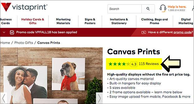 canvas prints reviews vistaprint