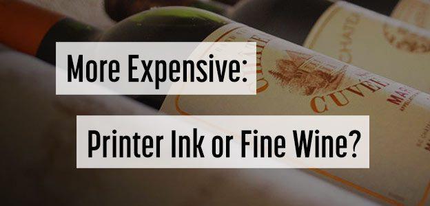 printer ink cost wine
