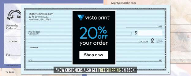 vistaprint checks coupon