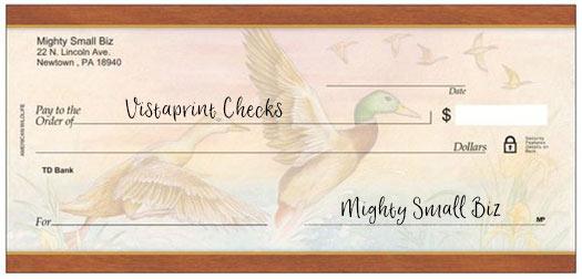 vistaprint checks design ducks