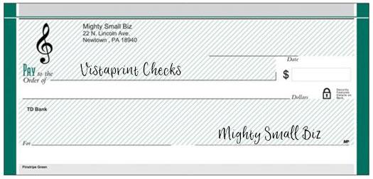 vistaprint checks design monogram