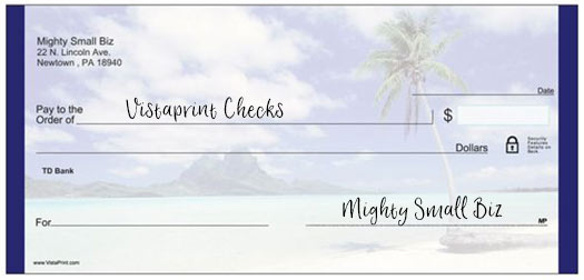 vistaprint checks design beach
