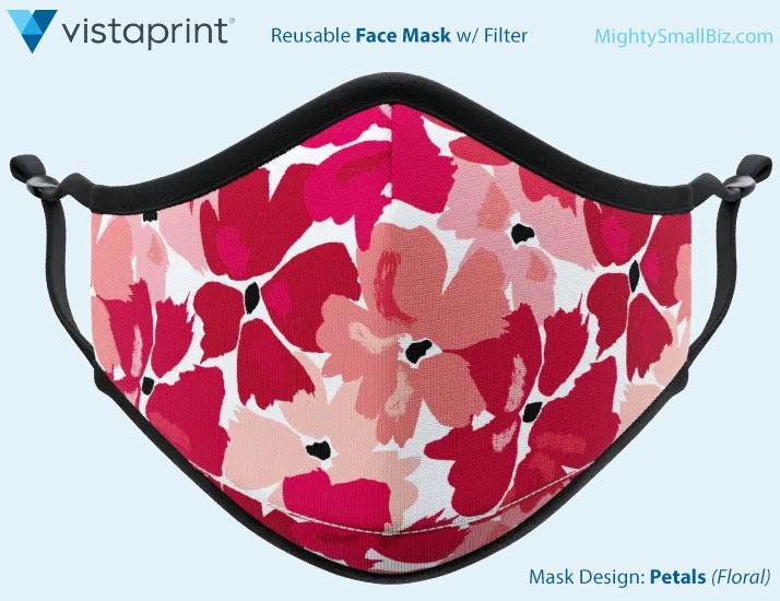 vistaprint face mask floral design
