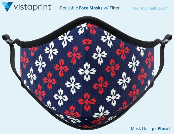 vistaprint face mask flowers design