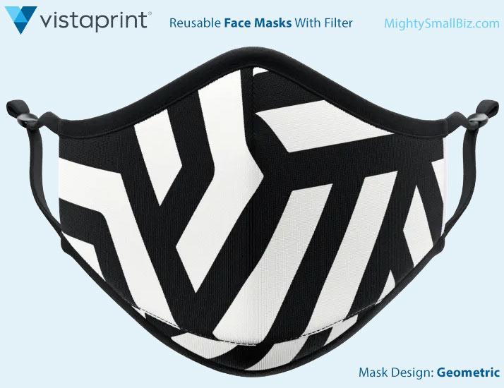 vistaprint face mask geometric