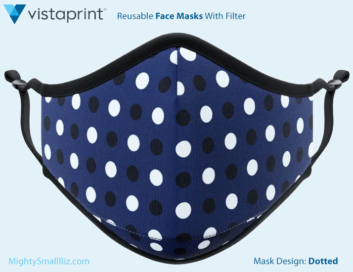 vistaprint face masks dotted