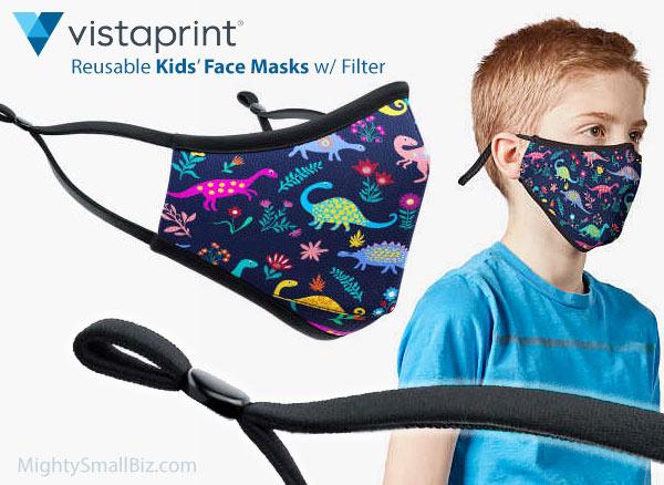 vistaprint kids face masks
