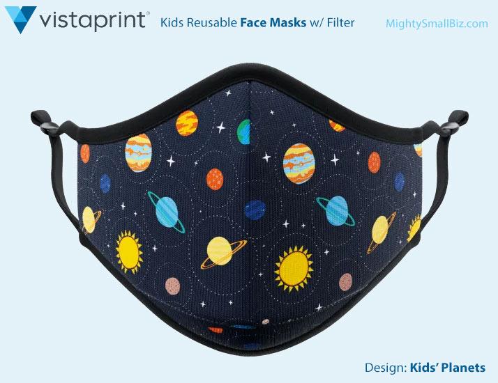 vistaprint face masks kids planet