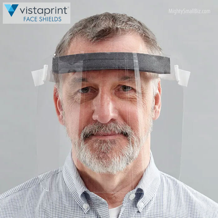 vistaprint face shield wear