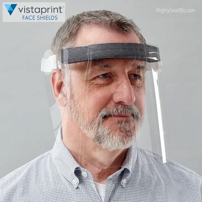 vistaprint face shield pic man