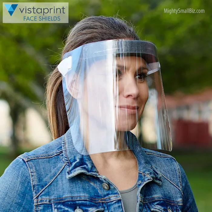 vistaprint face shields woman