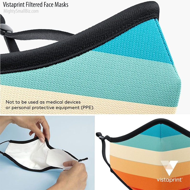 vistaprint filtered face masks